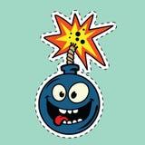 Personaje de dibujos animados divertido de la bomba Imagenes de archivo