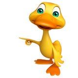 Personaje de dibujos animados divertido del pato Fotos de archivo