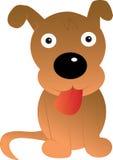 Personaje de dibujos animados divertido del perro ilustración del vector