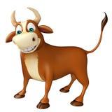 Personaje de dibujos animados divertido lindo de Bull Fotografía de archivo