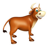 Personaje de dibujos animados divertido lindo de Bull Ilustración del Vector