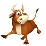 Personaje de dibujos animados divertido lindo de Bull Foto de archivo
