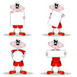 Personaje de dibujos animados enojado Imagen de archivo