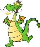 Personaje de dibujos animados feliz del dragón Foto de archivo