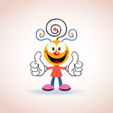 Personaje de dibujos animados lindo de la mascota Fotos de archivo