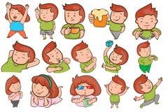 Personaje de dibujos animados lindo en vector determinado foto de archivo libre de regalías