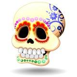 Personaje de dibujos animados mexicano del vector del símbolo de Sugar Skull Calaveras Dia De Los Muertos libre illustration