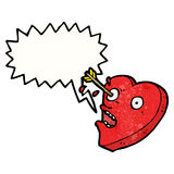 personaje de dibujos animados pegado amor del corazón Imagen de archivo