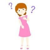 Personaje de dibujos animados que se pregunta de la mujer Imagen de archivo libre de regalías