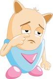 Personaje de dibujos animados triste Imágenes de archivo libres de regalías
