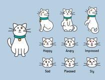Personaje del gato ilustración del vector