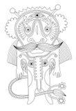 Personaje del monstruo de la fantasía ilustración del vector