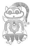 Personaje del monstruo de la fantasía del garabato ilustración del vector
