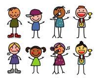 Personajes de dibujos animados 2 Imagenes de archivo