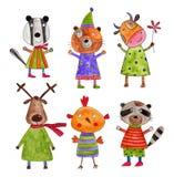 Personajes de dibujos animados Imágenes de archivo libres de regalías