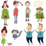 Personajes de dibujos animados imagen de archivo