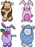 Personajes de dibujos animados animales Fotografía de archivo