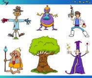Personajes de dibujos animados de la fantasía fijados Fotografía de archivo