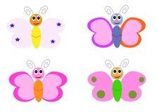 Personajes de dibujos animados de la mariposa Fotos de archivo
