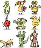 Personajes de dibujos animados de la selva Imagen de archivo libre de regalías