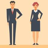 Personajes de dibujos animados del hombre de negocios Fotos de archivo