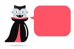 Personajes de dibujos animados del vampiro de Halloween del monstruo Foto de archivo libre de regalías
