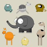 Personajes de dibujos animados divertidos Foto de archivo libre de regalías