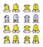 Personajes de dibujos animados - emociones Foto de archivo libre de regalías