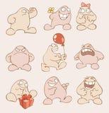 Personajes de dibujos animados gordos divertidos Imagen de archivo libre de regalías