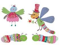 Personajes de dibujos animados, insectos Foto de archivo libre de regalías