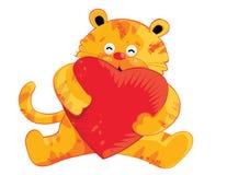 Personajes de dibujos animados lindos del tigre Foto de archivo libre de regalías