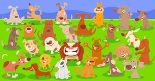 Personajes de dibujos animados de los perros grupo enorme libre illustration