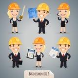 Personajes de dibujos animados Set1.2 de los hombres de negocios Fotos de archivo libres de regalías