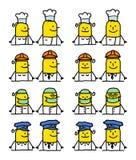 Personajes de dibujos animados - trabajos Fotografía de archivo libre de regalías