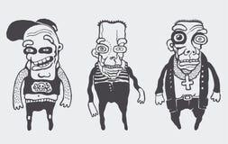 Personajes divertidos fijados Foto de archivo libre de regalías