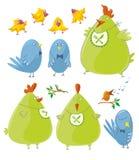 Personajes - pájaros lindos libre illustration