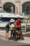 Personal-Öffnungs-Gatter am Rideau Kanal lizenzfreie stockbilder