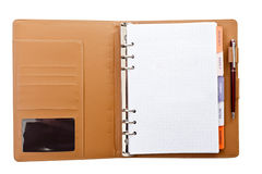 Personal agenda and pen closeup Stock Image