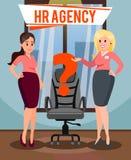Personal-Agentur-Vektor-Plakat mit Text stock abbildung