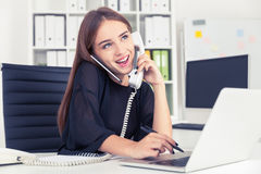 Personal assistant in black Royalty Free Stock Photo