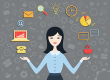 Personal assistant royalty free illustration