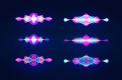 Personal assistant voice recognition concept. Artificial intelligence technologies. Sound wave logo concept.Vector background. Personal assistant voice vector illustration