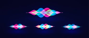 Personal assistant voice recognition concept. Artificial intelligence technologies. Sound wave logo concept.Vector background. Personal assistant voice stock illustration