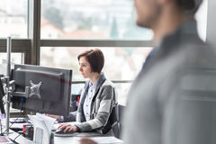 Personal assistant working in corporate office. Stock Images