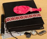 Personal belongings of a businessman. On the table prepared Stock Photography