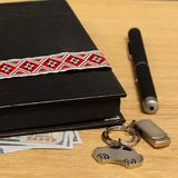 Personal belongings. Of a businessman on the table prepared Royalty Free Stock Images