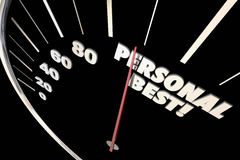 Personal Best New Record Time Speedometer vector illustration