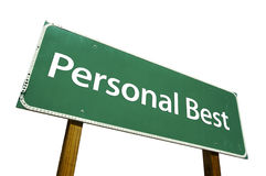Personal Best - Road Sign royalty free stock photos