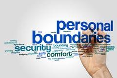 Personal boundaries word cloud Royalty Free Stock Images