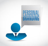 Personal branding avatar sign illustration design Stock Photography